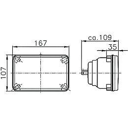 Hella 165mm H1 Conversion High Beam E-code Headlamp