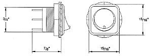 8059L Series Hella LED Illuminated SPST Flush Mount Rocker