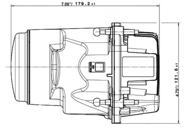 Hella L4060 90MM BI-LED High/Low Beam Module Gen II