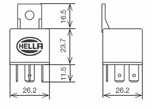 Hella HL33208 Mini Relay, 24V, 10/20A, SPDT with Diode and