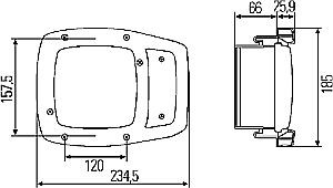 Hella Module 120F H7/H3 Single High/Low Beam Combination