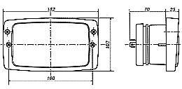 Hella Module 6213F (148 x 84mm) H4 Single High/Low Beam