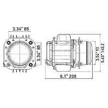 SM6024BLBJ Hella 90mm Bi-LED High/Low Headlamp Kit for