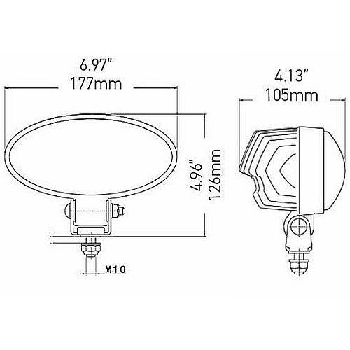 Hella FF300 LED Driving Lamp
