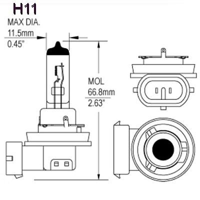 Hella DOUBLE POWER H11 24V Bulb 358110211 HL78120, each