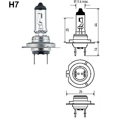 HELLA H7 High Performance 2.0 Xenon Bulbs, Pair