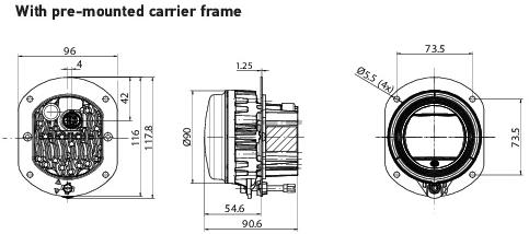 Hella 90mm L4060 LED High Beam / Driving Lamp Module
