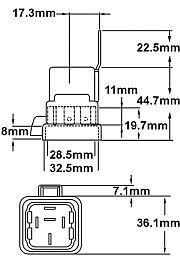 Hella HL87421 Weatherproof Mini Relay, 24V, 10/20A, With