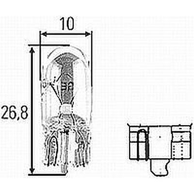 T3-1/4W2.112 T-3-1/4 12v, W2,1X9,5d Incandescent Bulb