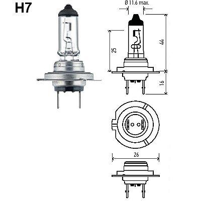 HELLA H7LL/ H7 24VLL Long Life Bulb, Each