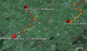 Galway 2014 Jemba Speed Profiles in Google Earth