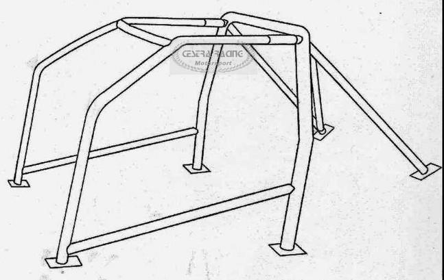ROLL BAR omologato FIAT PUNTO (176 ) (FIA J) [00723116