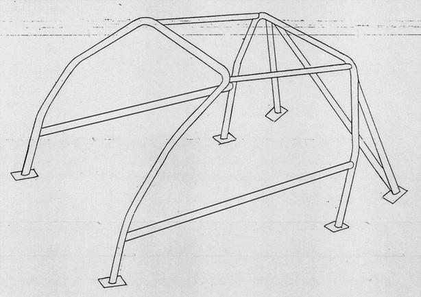 ROLL BAR Conforme FIA-J FIAT UNO ( Serie 146 ) [00723118