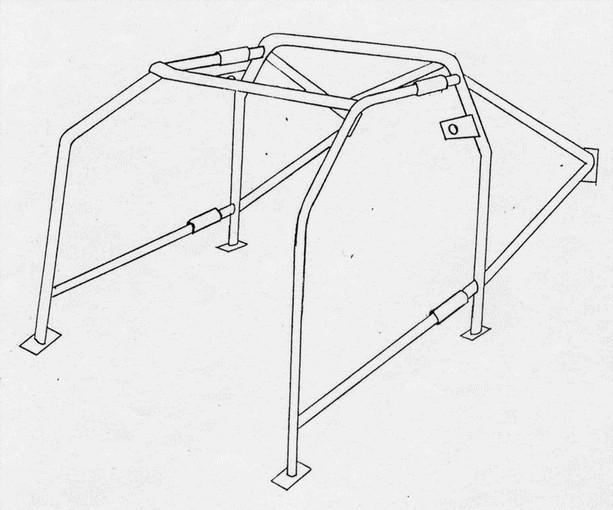 ROLL BAR Conforme FIA-J LANCIA Delta HF/Int./4WD/EVO (Y5