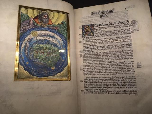 Pages from Luther's German translation of the Bible.