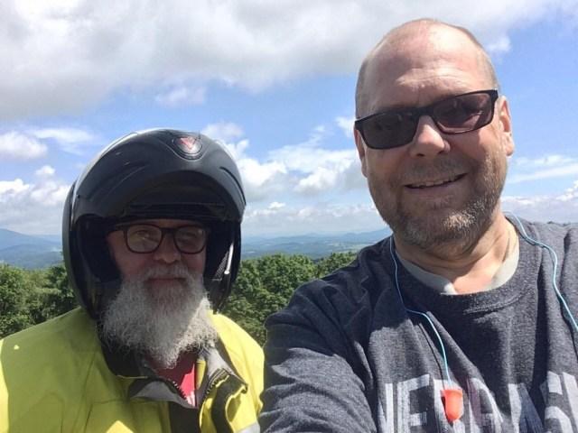 Matt and Ralph along the Blue Ridge Parkway.