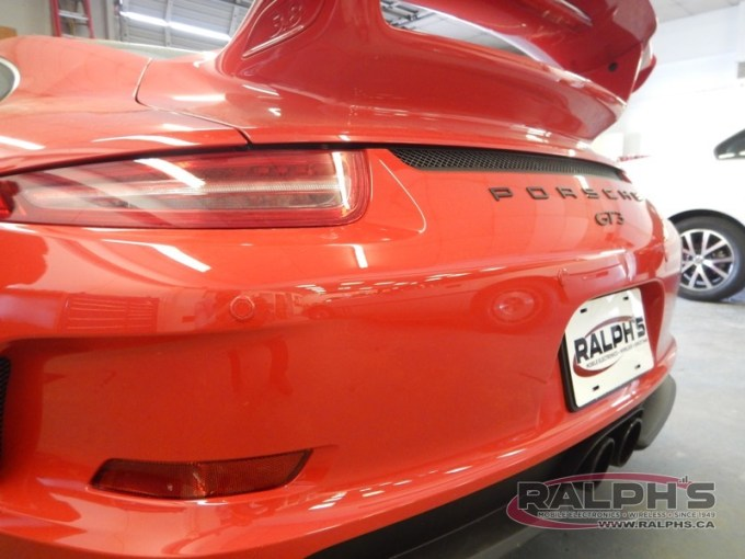Parking Assist System Installed on Porsche GT3