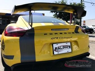 Porsche Cayman GT4 Clubsport Dash Camera
