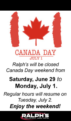 Ralphs Closed,-6-29 to 7-1