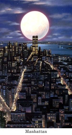 Manhattan by moonlight