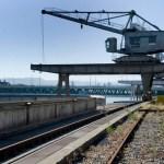 Novartis schenkt der Stadt einen Hafenkran für den Klybeckquai