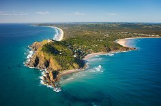 Byron Bay arial shot