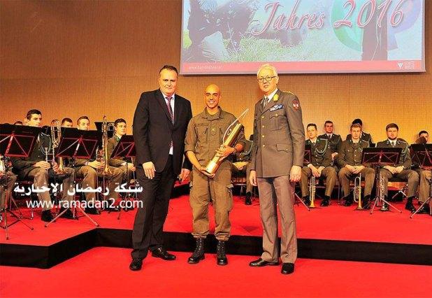 يوسف عامر يتسلم جائزة شخصية أفضل عسكرى لعام 2016 من وزير الدفاع النمساوى