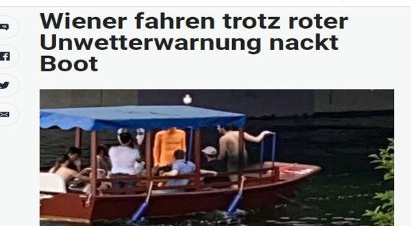 العري والشواطئ العارية في النمسا – أمسك عراة يتجولون في مناطق محذورة بقارب في نهر الدنوب