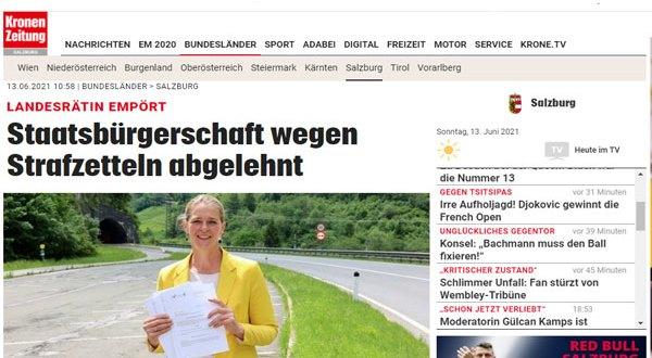 مخالفات سير أثناء القيادة تمنع حصول شخص من مواليد النمسا على الجنسية