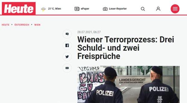 فيينا – السجن 6 سنوات لـ ثلاثة دواعش وبراءة اثنين