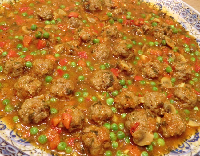 Marokkaanse gehaktballetjes in tomatensaus