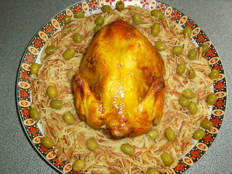 Turkse kip met vermicelli