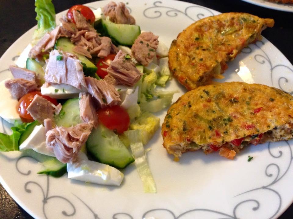 Groente omelet met broccoli