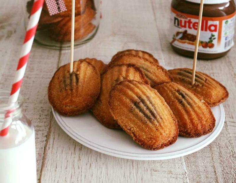 Madeleines met Nutella vulling