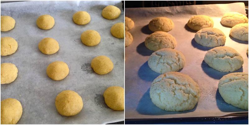 harcha koekjes uit de oven