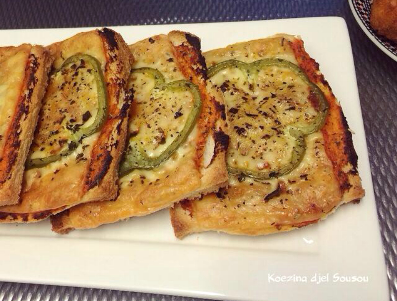 Toast pizza