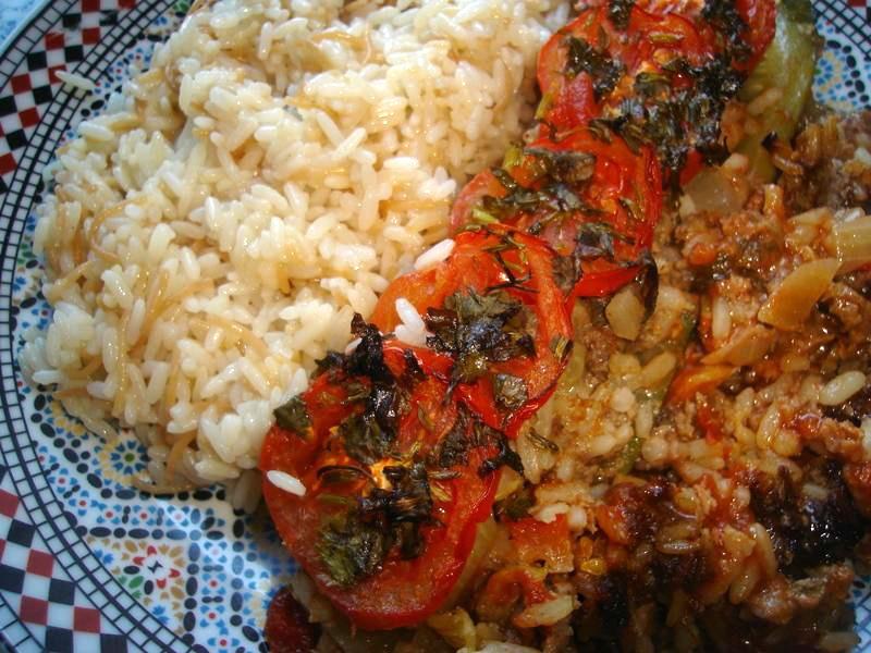 Gevulde courgette met Turkse rijst