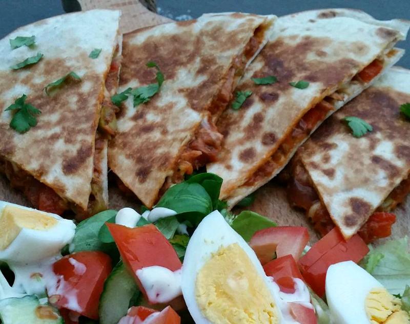 Quesadillas met tonijn en kaas