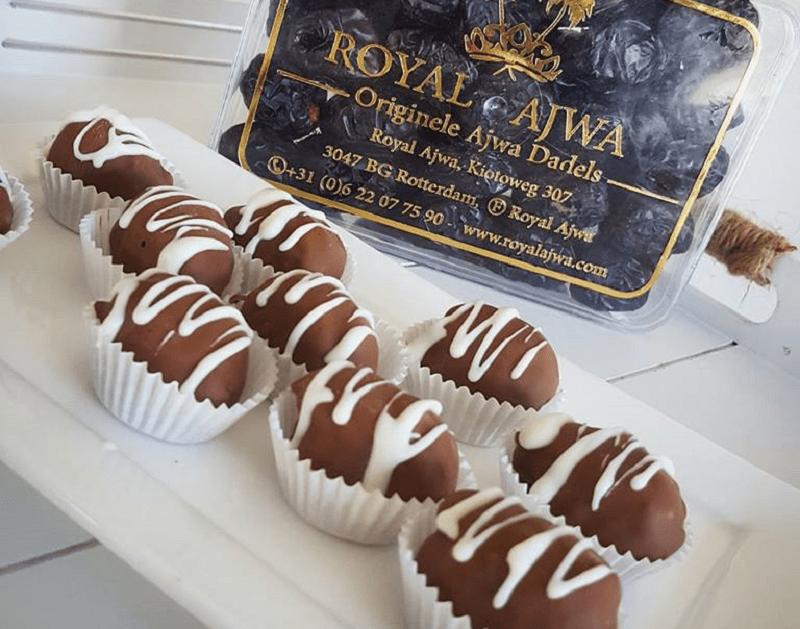 Chocolade-dadel bonbons