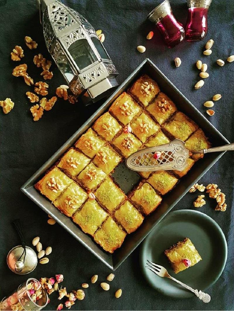 baklava met noten en sinaasappel-honingsiroop-2