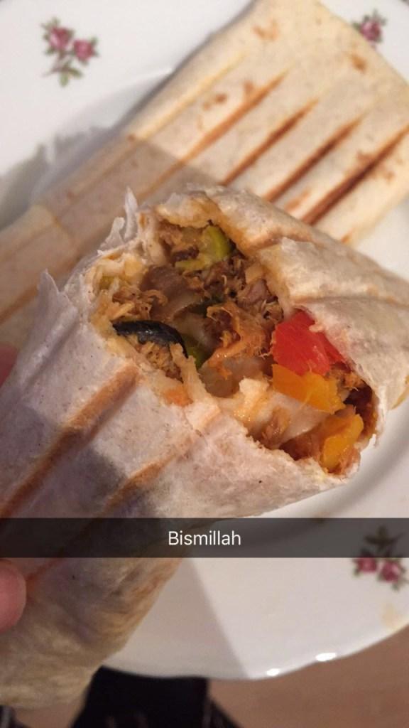 Privé: Gegrilde tortilla's met tonijn en groenten