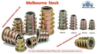 Wood Threaded Flange Inserts Nuts Zinc Plated Steel Alloy Insert Nut