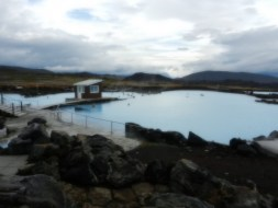 Lake Myvatn thermal baths.