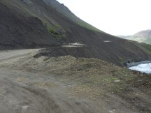 Road through the scree.