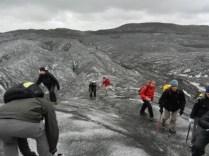 On Svinafellsjokull glacier walk.