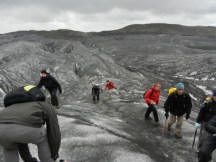 On Svinafellsjokull glacier walk.