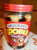 Smuckers Goober. Peanut butter and jelly in one jar!