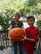 With our pumpkin.