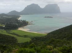 Looking down at Settler's Beach.