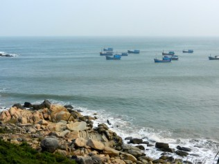 Fishing boats in the S China Sea.